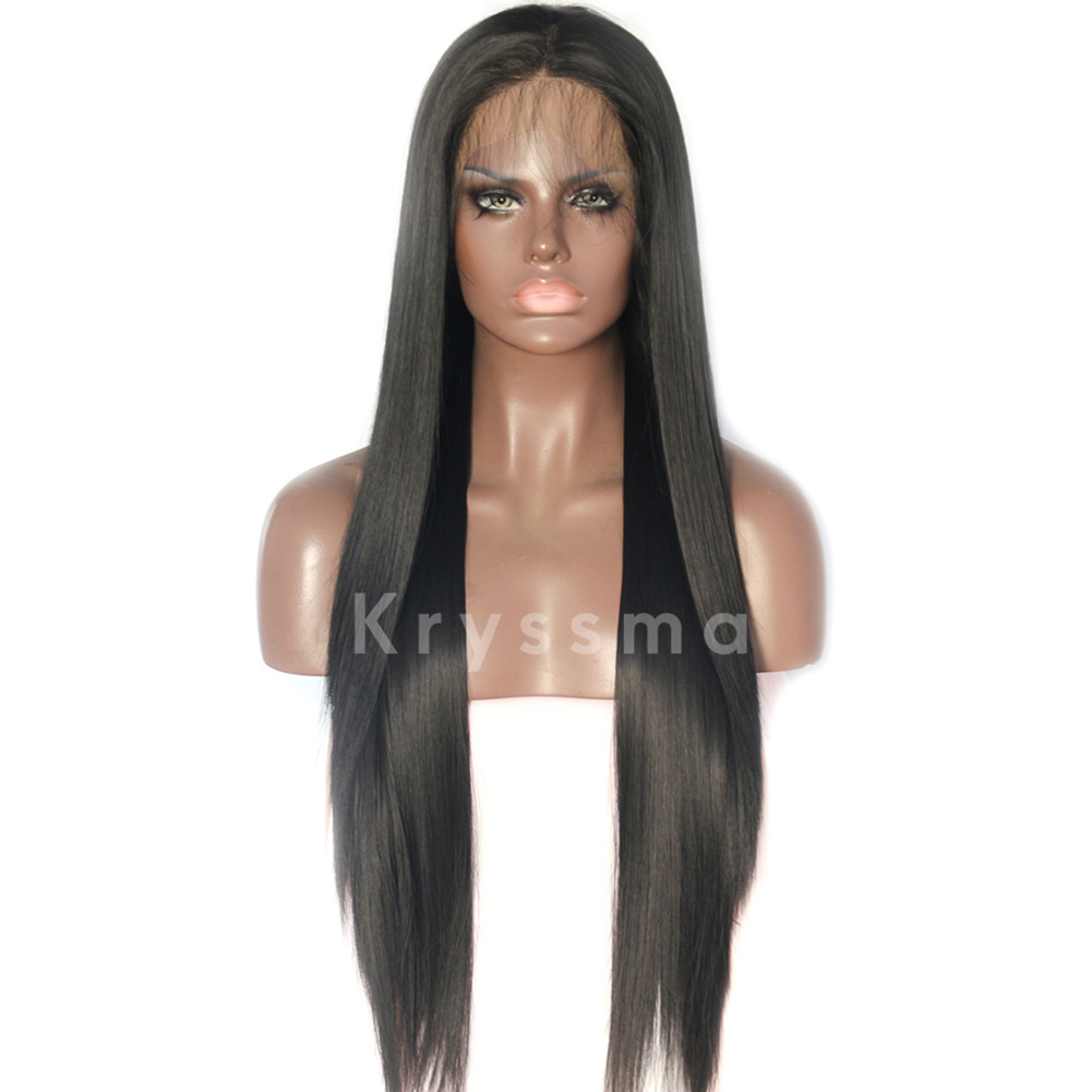 black synthetic lace front wigs with baby hair � kryssma