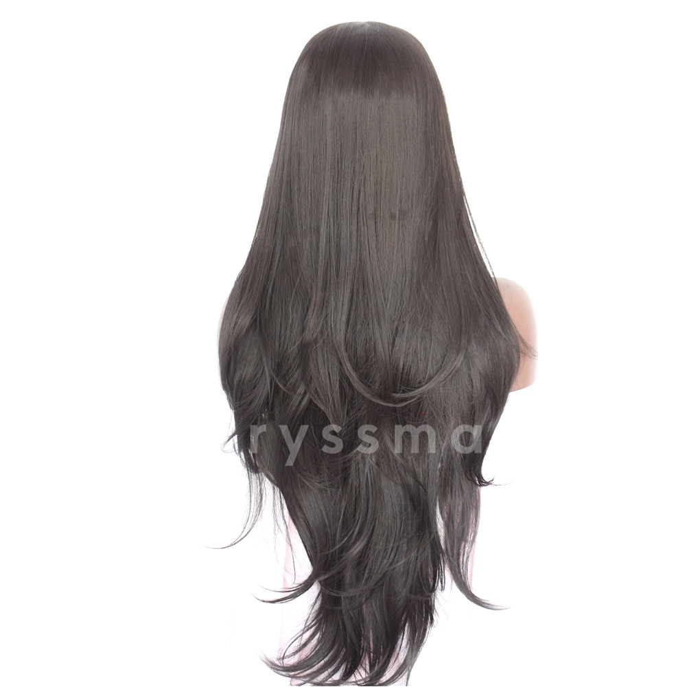 3e8528f6eda76c Home / Black Synthetic Lace Front Wigs / Black Straight Synthetic lace  Front Wigs – Elvira